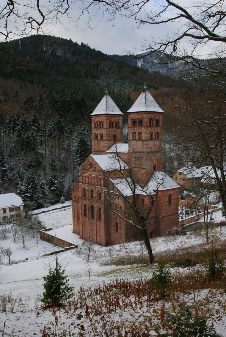 Murbach Abbey Winter c