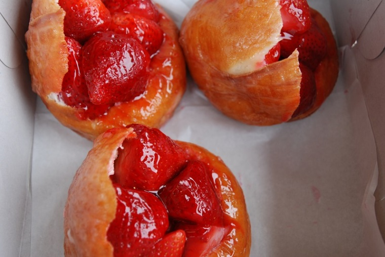 Fresh Strawberry Donuts
